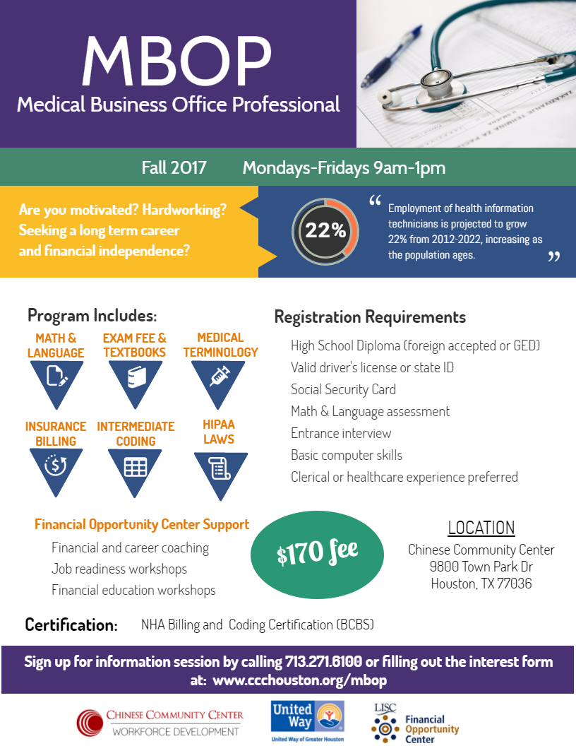 Medical Business Office Professional Mbop Training Chinese