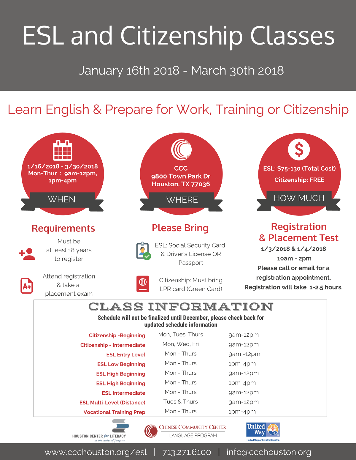 2018 Spring Classes Flyer_English