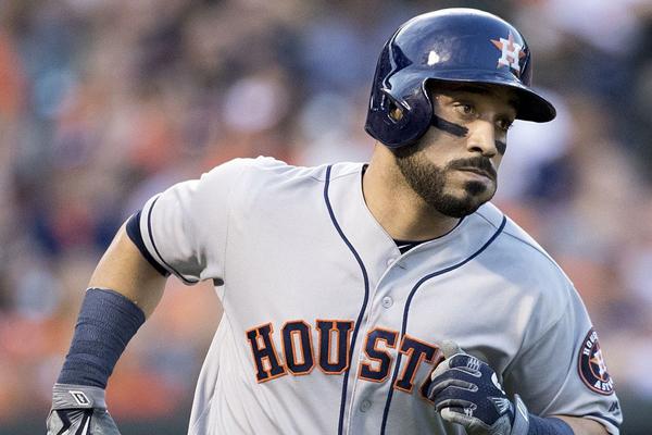 Houston Astros Baseball signed by Marwin Gonzalez